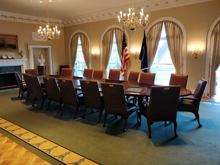 Replica of Clinton's Cabinet Room