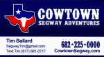 Cowtown Segway Tour bus card