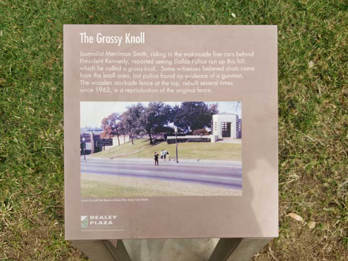Dallas Grassy Knoll sign