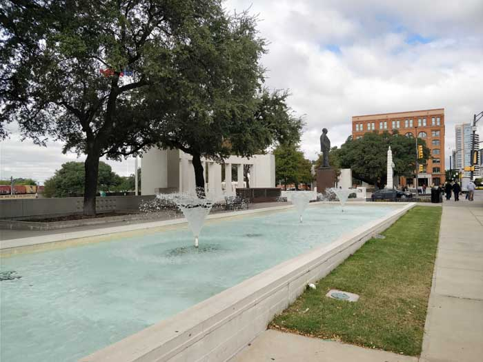 Dealey Plaza Reflecting Pools area