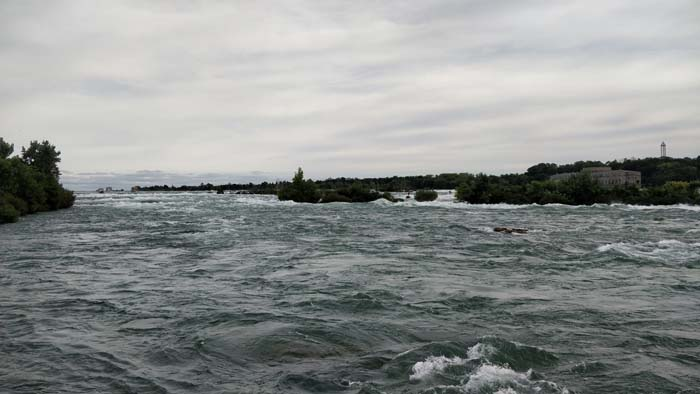 Niagara River approaching Horseshow Falls - USA