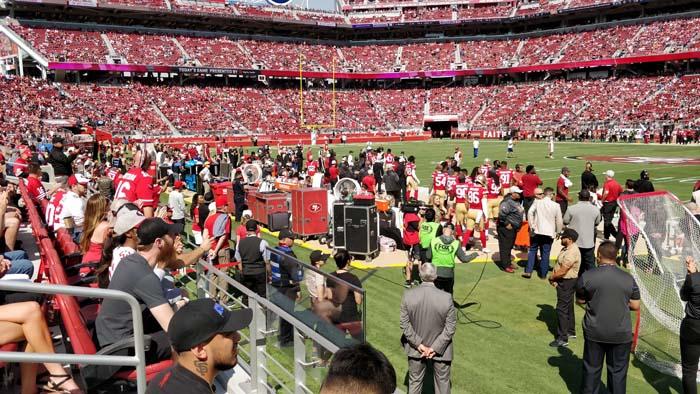 49ers sideline #1