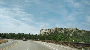 Approaching Mount Rushmore National Memorial