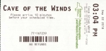 Cave Of The Winds entry ticket