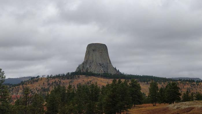Devils Tower from the park entrance #1
