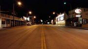 Keystone at night