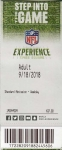 NFL Experience entry ticket