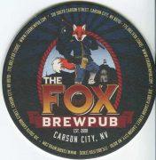 The Fox Brewpub beer mat