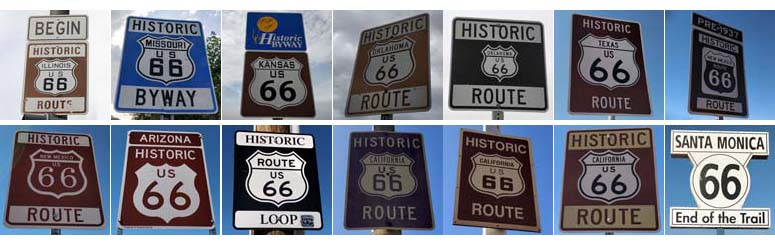 Route 66 State Road Signs