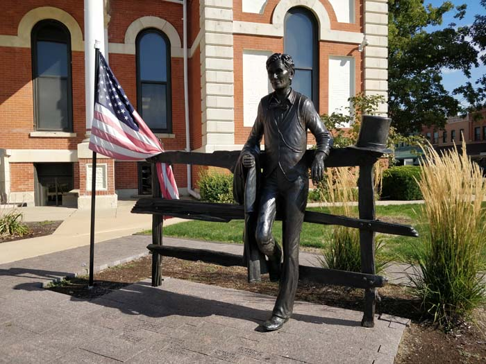 Abraham Lincoln statue outside County Board