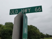 Old Highway 66 sign, north of Bristow OK
