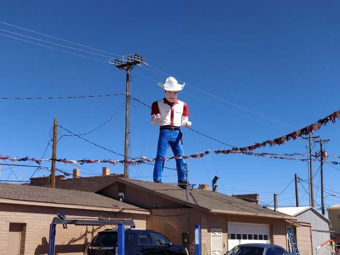 Cowboy Muffler Man, John's Used Cars, Route 66, Gallup, NM