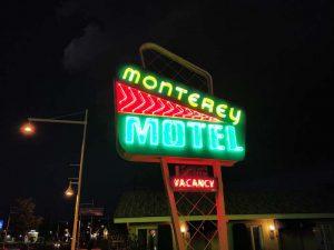 Monterey Non-Smokers Motel at night