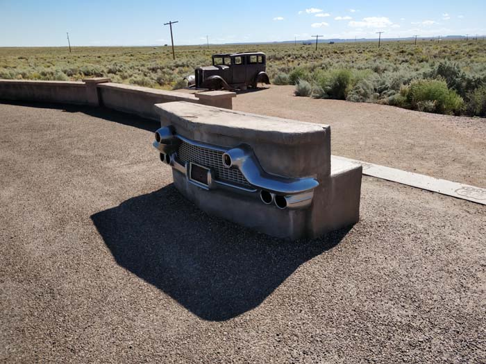 Route 66 marker, 1932 Studebaker, #2