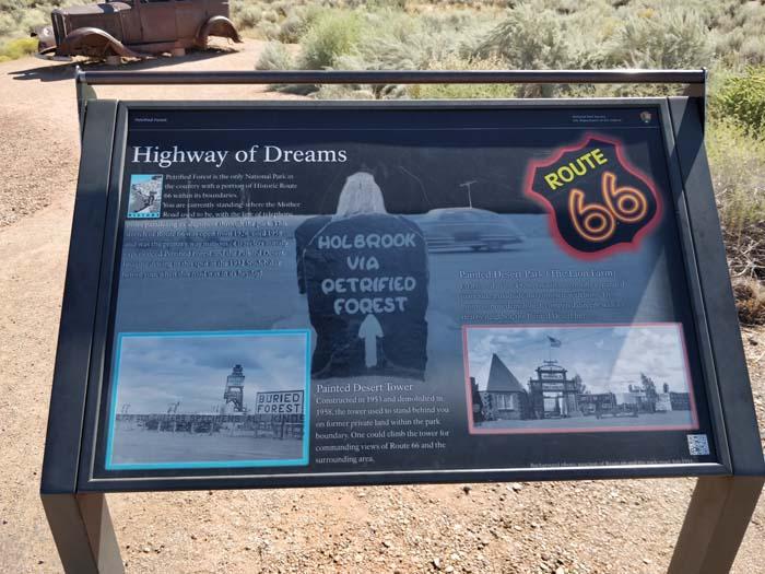 Route 66 marker, 1932 Studebaker, #3