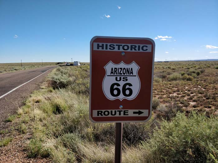 Route 66 marker, roadside sign, #4