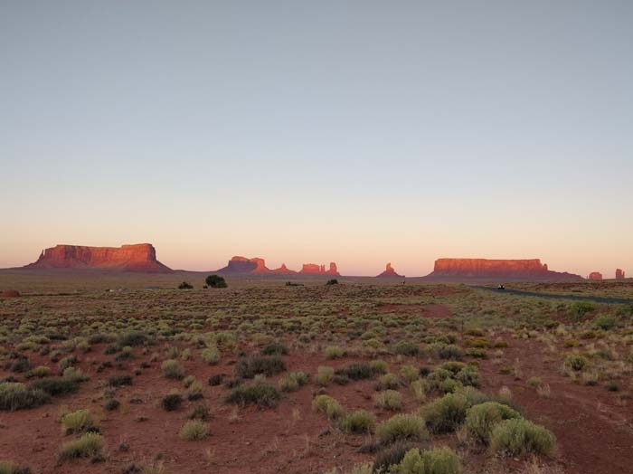 Sunset near Goulding's Lodge, Oljato-Monument Valley, UT, looking west #1