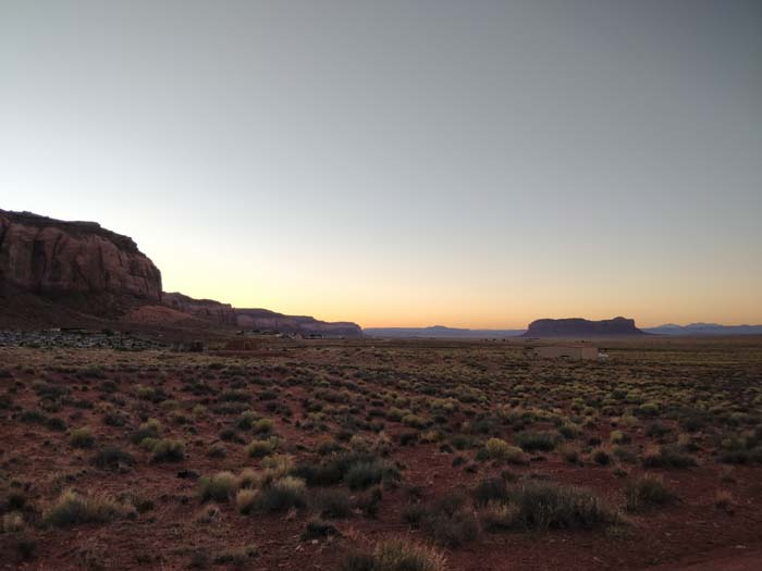 Sunset near Goulding's Lodge, Oljato-Monument Valley, UT, looking west #2