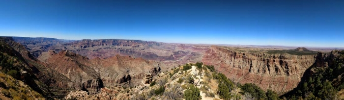 Desert View panorama west to east