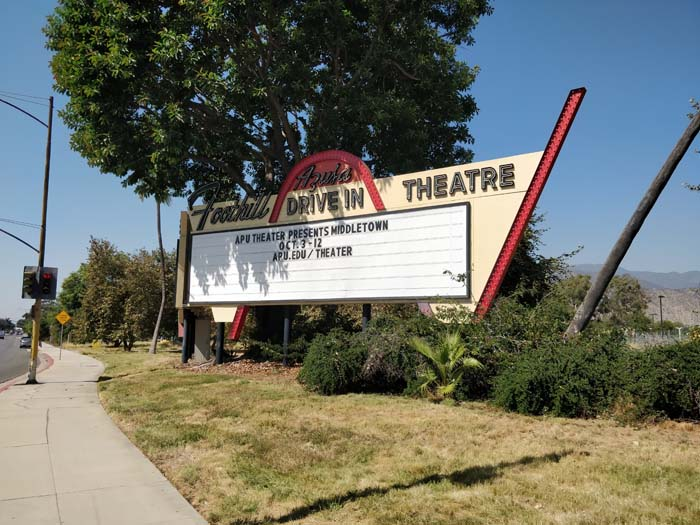 Drive-in sign, Azusa, LA