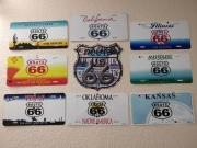 Licence plates in hotel reception