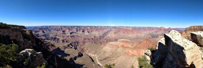 Mather Point panorama west to east