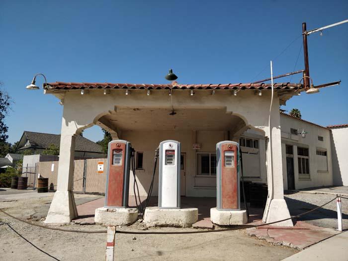 Old gas station, Monrovia #1