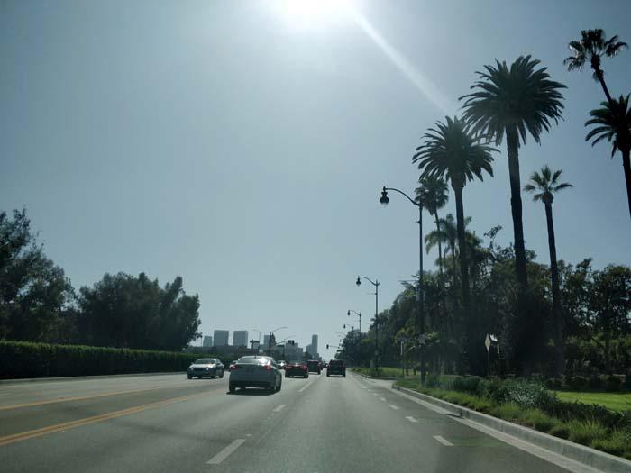 Route 66, Santa Monica Boulevard in Beverly Hills, LA