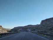 Route 66 leaving Kingman to the west
