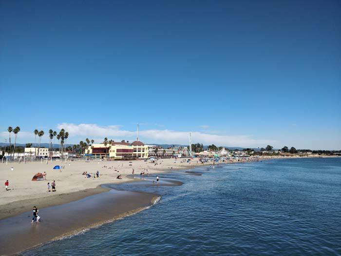 Santa Cruz Beach from the Pier