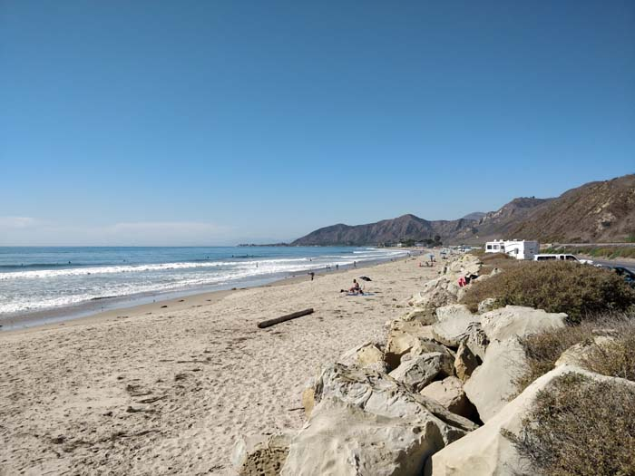 Solimar Beach on the PCH north of Ventura
