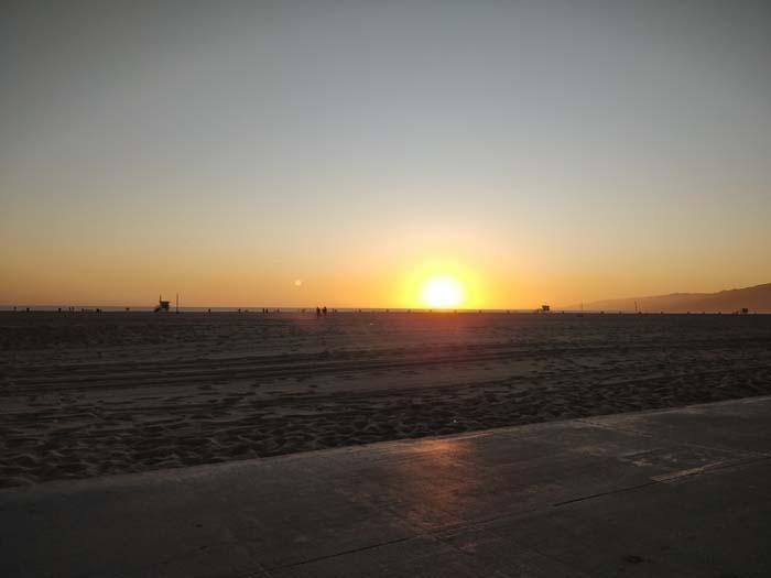 Sunset on Santa Monica Beach #1
