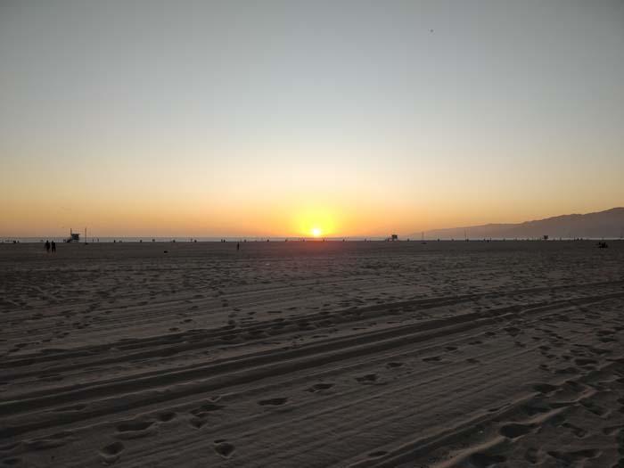 Sunset on Santa Monica Beach #2