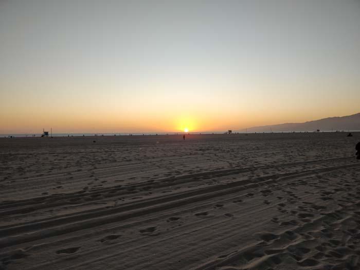 Sunset on Santa Monica Beach #3