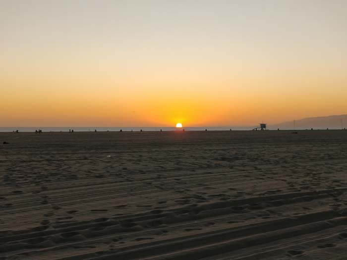 Sunset on Santa Monica Beach #4