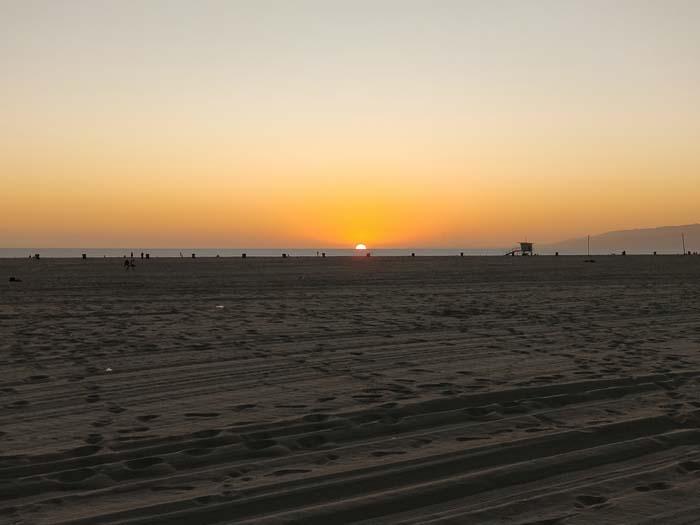 Sunset on Santa Monica Beach #5