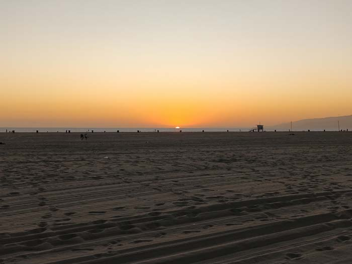 Sunset on Santa Monica Beach #6