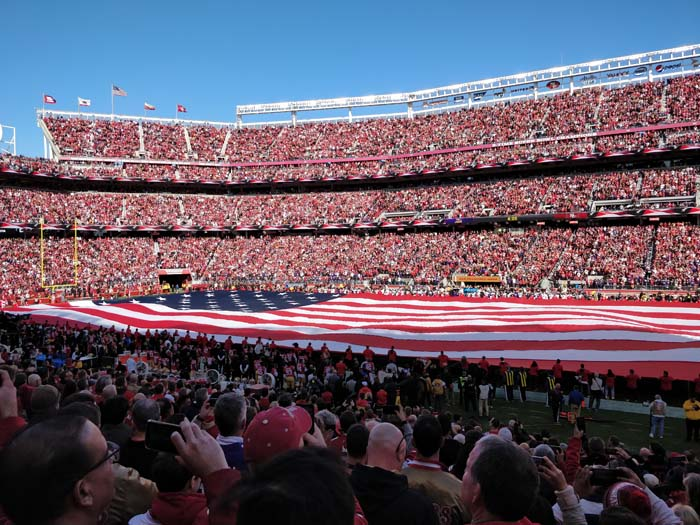 49ers Divisional Playoff 2020 National Anthem #1